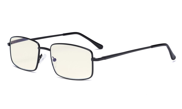 Blue Light Filter Computer Glasses - UV420 Anti Blue Rays Reading Glasses - Black UVR15023