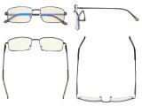 Blue Light Filter Computer Glasses - UV420 Anti Blue Rays Reading Glasses - Gunmetal UVR15023