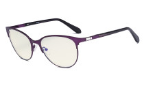 Ladies Blue Light Filter Glasses - UV420 Cateye Computer Eyeglasses - Anti Blue Ray Eyewears Women Purple LX19024-BB40