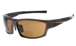 Bifocal Sunglasses UV400 Protection Quality TR90 Frame Sport Design Sunshine Readers Men Pearly-Brown SG904-Bifocal