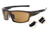 Bifocal Sunglasses UV400 Protection Quality TR90 Frame Sport Design Sunshine Readers Men Pearly-Brown SG904-Bifocal