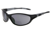Bifocal Sunglasses Quality TR90 Frame Windproof Sports Design Running Driving Sunshine Readers Black-Grey SG905-Bifocal