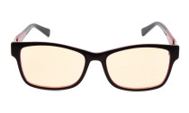 Computer Reading Glasses with Acetate Frames and Tinted Lens Brown/White Red AH6208