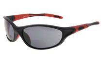 Bifocal Sunglasses Quality TR90 Frame Windproof Sports Design Running Driving Sunshine Readers Black-Red SG905-Bifocal