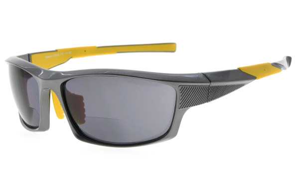Bifocal Sunglasses UV400 Protection Quality TR90 Frame Sport Design Sunshine Readers Men Pearly-Grey SG904-Bifocal