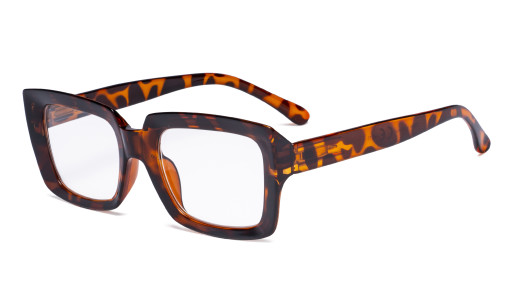 Oprah Reading Glasses Women - Oversized Square Readers Tortoise R9107