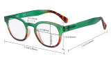 4 Pack Ladies Reading Glasses - Round Readers for Women Reading R124D