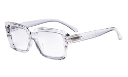 Oprah Reading Glasses Women - Oversized Square Readers Transparent R9107