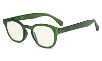 Ladies Computer Glasses - Blue Light Filter Readers Women - UV420 Anti Glare Reading Glasses - Dark Green UVR124