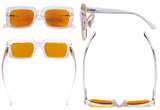 Blue Blocking Reading Glasses with Orange Tinted Filter Lens for Sleeping - Oversized Square Computer Readers Women Oprah - Transparent DS9107