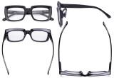 Oprah Reading Glasses Women - Oversized Square Readers Black R9107