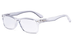 Women's Stylish Readers Comfortable Reading Glasses Men Transparent Frame Spring Hinges R075