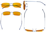Computer Glasses - Blue light Blocking Reading Glasses with Orange Tinted Filter Lens for Nighttime - Rimless Anti Glare UV Rays Men Women,Blue DSWK8