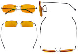 Computer Glasses - Blue light Blocking Reading Glasses with Orange Tinted Filter Lens for Nighttime - Rimless Anti Glare UV Rays Men Women,Black DSWK8
