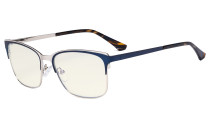Blue Light Glasses - Design Digital Eyeglasses for Women Blocking Computer Screen UV Rays - Anti Glare Filter Reduce Eye Strain - Blue LX19039-BB40