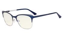 Blue Light Glasses - Square Digital Eyeglasses for Women Blocking Computer Screen UV Rays - Anti Glare Filter Reduce Eye Strain - Blue BB40