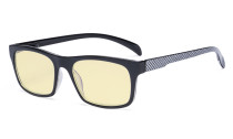 Blue Light Blocking Reading Glasses with Yellow Filter Lens - Anti Screen Glare Blue Rays Computer Eyeglasses Pattern Design Women Men - Grey TMR047
