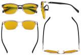 Ladies Blue Light Glasses - Digital Eyeglasses for Women Blocking Computer Screen UV Rays - Anti Glare Reduce Eye Strain Amber Filter - Blue LX19037-BB90
