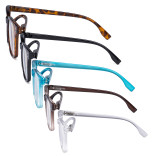 5 Pack Large Reading Glasses - Square Readers for Men Women Reading RT1804-5pcs-Mix
