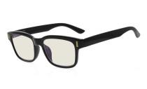 Ladies Blue Light Filter Glasses - UV420 Protection Anti UV Rays Screen Glare Computer Eyeglasses Reading Glasses for Women - Black  UVRT1802