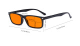 Nighttime Blue Light Blocking Eyeglasses Reading Glasses Men Women with Orange Tinted Filter Lens - Anti Digital Screen Glare UV Ray Computer Glasses - Tortoise DSR899-6