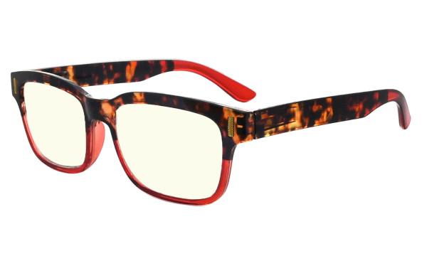 Ladies Blue Light Filter Glasses - UV420 Protection Anti UV Rays Screen Glare Computer Eyeglasses Reading Glasses for Women - Tortoise/Red UVRT1802