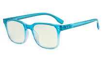 Large Blue Light Filter Glasses Men Women - Square Computer Eyeglasses Reading Glasses Blocking UV Rays Anti Screen Glare - Blue UVRT1804