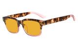 Ladies Blue Light Blocking Glasses - Anti UV Rays Screen Glare Computer Eyeglasses Reading Glasses for Women with Orange Tinted Filter Lens for Sleeping - Tortoise/Pink DSRT1802