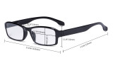 Blue Light Filter Glasses Men Women - UV420 Protection Anti Glare Blue Ray Filter Computer Eyeglasses Reading Glasses - Red UVR9102