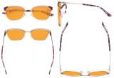 Ladies Butterfly Design Blue Light Blocking Glasses - Anti Glare UV Rays Computer Screen Eyegalsses Women - Cut Digital Glare Orange Tinted Filter Lens Reduce Eye Strain - Red LX19034