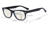 Computer Gaming Glasses for Kids - Blue Light Filter UV420 Rays Protection - Boys Girls Anti Glare Digital Glasses for Reading Screen - Transparent K05
