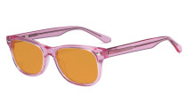 Computer Gaming Glasses for Kids - Blue Light Blocking with Orange Tinted Filter Lens - Boys Girls Anti Glare Digital Glasses for Reading Screen - Pink K05