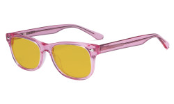 Computer Gaming Glasses for Kids - Blue Light Blocking with Amber Filter Lens - Boys Girls Anti Glare Digital Glasses for Reading Screen - Pink K05