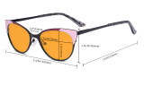 Ladies Blue Light Blocking Glasses - Butterfly Design Computer Eyegalsses Women Anti Screen UV Rays - Cut Digital Glare Orange Tinted Filter Lens Reduce Eye Strain - Blue LX19033