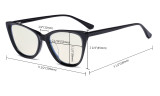 Acetate Frame Oversize Butterfly Design Blue Light Filter Glasses - Anti Glare UV Rays Computer Screen Eyegalsses Women - Cut Digital Glare with Filter Lens Reduce Eye Strain - Transparent BC1902
