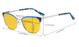 Ladies Butterfly Design Blue Light Blocking Glasses - Anti Glare UV Rays Computer Screen Eyegalsses Women - Cut Digital Glare Amber Filter Lens Reduce Eye Strain - Red LX19034