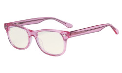 Computer Gaming Glasses for Kids - Blue Light Filter UV420 Rays Protection - Boys Girls Anti Glare Digital Glasses for Reading Screen - Pink K05