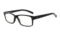 Reading Glasses Quality Spring Hinges with Vintage Classic Frame Readers Black R032