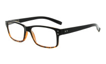 Reading Glasses Quality Spring Hinges with Vintage Classic Frame Readers Black-Yellow R032