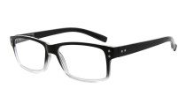 Reading Glasses Quality Spring Hinges with Vintage Classic Frame Readers Black-Transparent  R032