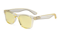 Vintage Blue Light Glasses Women - Blocking UV Ray Anti Screen Glare Computer Eyeglasses with Yellow Filter Lens - Yellow TMS027