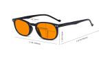 Retro Blue Light Glasses Women Men - Blocking UV Ray Anti Screen Glare Nighttime Computer Eyeglasses Reading Glasses with Orange Tinted Filter Lens - Tortoise DSR065