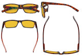 Blue Light Blocking Glasses Men Women - Anti Digital Glare UV Ray Computer Eyeglasses Reading Glasses with Amber Tinted Filter Lens - Tortoise HP032