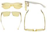 Vintage Blue Light Glasses Women - Blocking UV Ray Anti Screen Glare Computer Eyeglasses with Yellow Filter Lens - Yellow TMS027