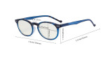 Fashionable Blue Light Filter Glasses Women - Anti Digital Glare Blocking UV Ray Oval Round Computer Eyeglasses Reading Glasses - Red UVR071F