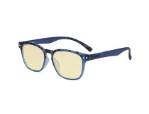 Fashion Blue Light Blocking Glasses - Anti Digital Glare Eyewears with Yellow Filter UV Protection Computer Eyeglasses Reading Glasses Women - Blue/Tortoise TM079