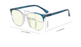 Oversize Blue Light Filter Glasses Women - Anti Digital Glare UV Ray Computer Eyeglasses Reading Glasses - Blue UVR9001C