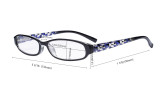 4 Pack Print Women's Reading Glasses - Ladies Fashion Small Readers for Women Reading R9104T-4pcs-Mix