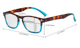 3 Pack Ladies Reading Glasses - Stylish Readers for Women Reading R046D-3pcs-Mix