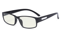 Blue Light Filter Glasses Men - UV420 Rays Protection Computer Screen Eyeglasses Reading Glasses Blocking Digital Glare - Black UVR9103